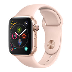 Apple Watch Series 4 GPS, 40mm Gold Aluminum with Pink Sport Band