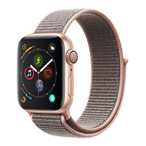 Apple Watch Series 4 GPS, 40mm Gold Aluminum with Pink Sport Loop Band