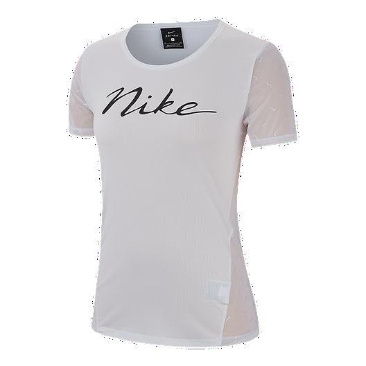 21743075667 Nike Pro Women s Mini Swoosh T Shirt