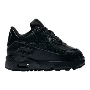 dd1d1f926c Nike Toddler Air Max 90 Leather Shoes - Black