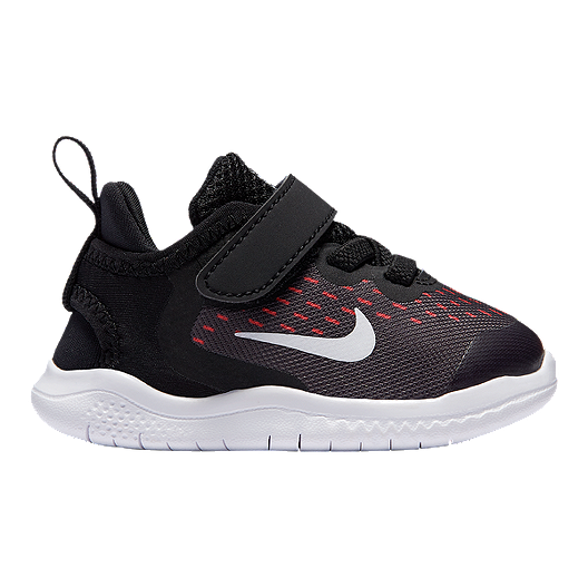 4de42683e2aef Nike Girls Toddler Free RN Shoes - Black White Racer Pink