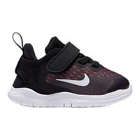 1c48944af26d Nike Girls Toddler Free RN Shoes - Black White Racer Pink