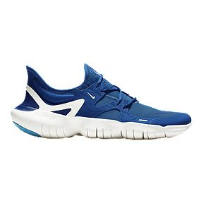 new arrival c51bb beb6a Nike Men s Free RN 5.0 Running Shoes - Blue White
