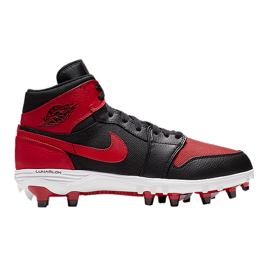 huge selection of 7ddfa db072 Nike Men s Jordan 1 TD Mid Cut Football Cleats - Black Red   Sport Chek