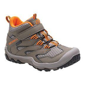 beae2d2d2db Merrell Kids' Chameleon 7 Access Mid Waterproof Hiking Boots - Gunsmoke