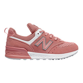 New Balance Girls' 574 Grade School Shoes - Sport Pink