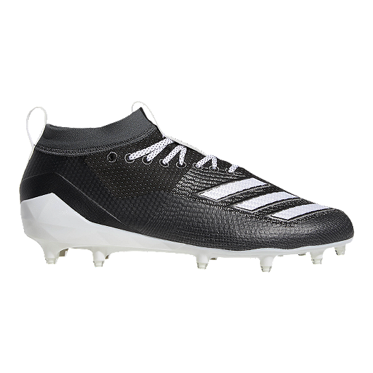 8a1605ddf adidas Men's Adizero Burner Football Cleats - Black/White/Grey | Sport Chek