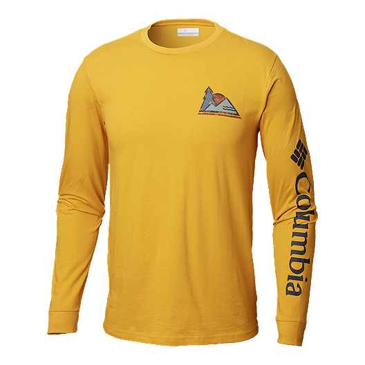 4b47b86f47e Columbia Men's Harpers Bend Long Sleeve T Shirt - Golden Yellow | Sport Chek