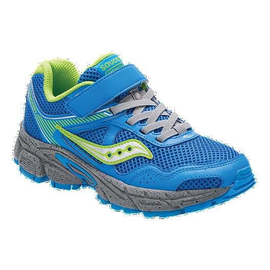 3d45d47e8363 Saucony Boys  Cohesion 10 AC Pre-School Shoes - Blue Green Grey ...