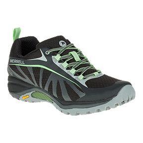Merrell Women s Siren Edge Waterproof Hiking Shoe - Black Paradise Green 88967a8122