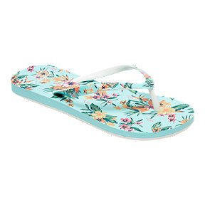 Roxy Girls' Little Mermaid Pebbles VI Flip Flop Sandals - Multi
