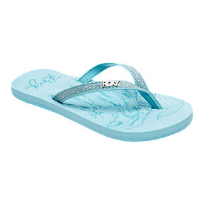 Roxy Girls' Little Mermaid Napali Flip Flop Sandals - Light Blue