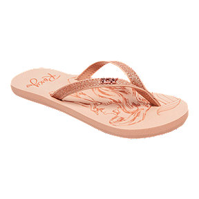 Roxy Girls' Little Mermaid Napali Flip Flop Sandals - Beige