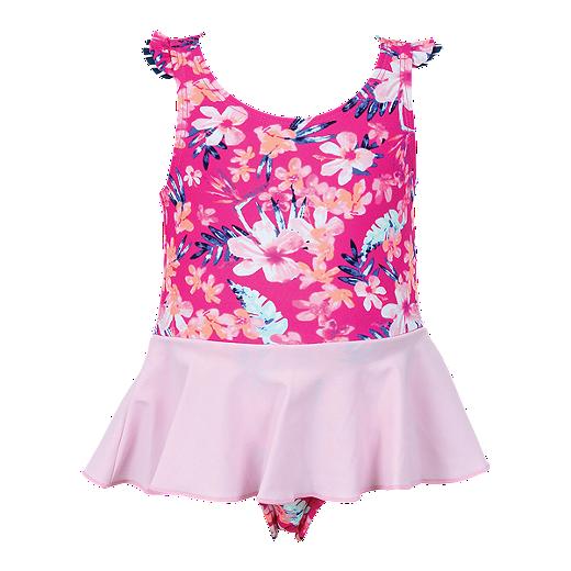 9f7c836fa5a Mandarine Baby Girls  Sea Spray 1-Piece - Pink - SUPER PINK