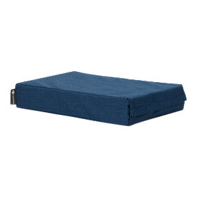 Halfmoon Chip Foam Yoga Block W/ Cover Heather Blu