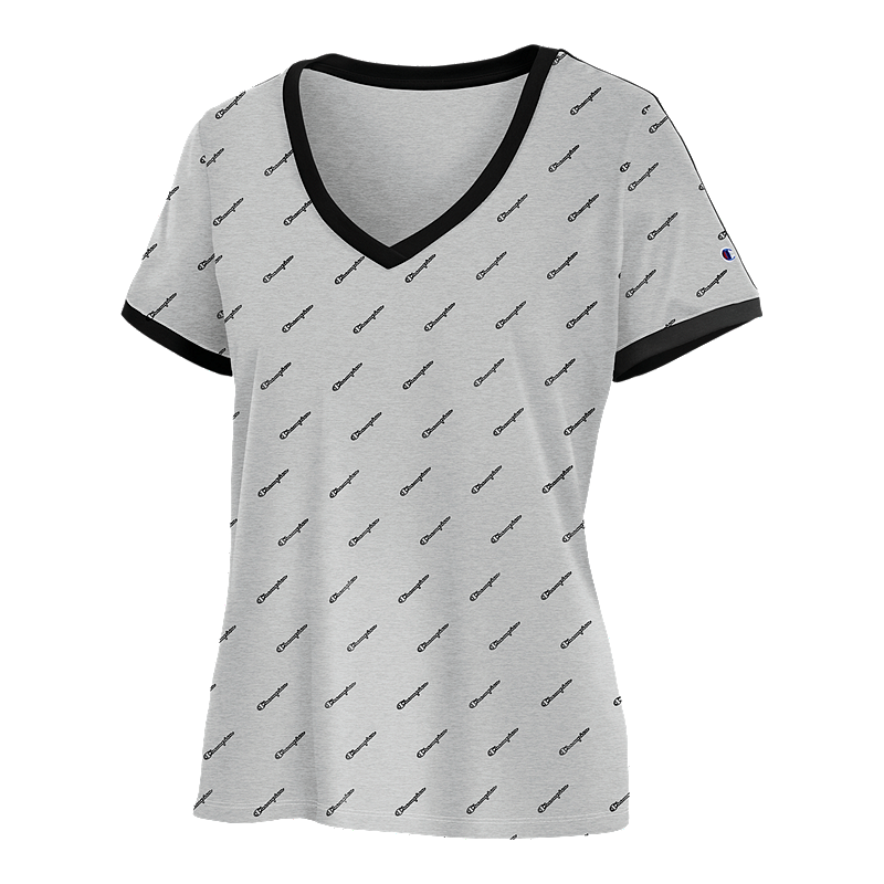 639fbec8c7 Champion Women s Heritage V-Neck Ringer T Shirt