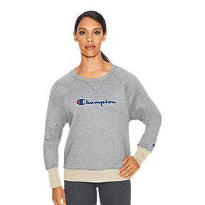 da76ec03312 Champion Women's Powerblend Fleece Boyfriend Crew Sweatshirt