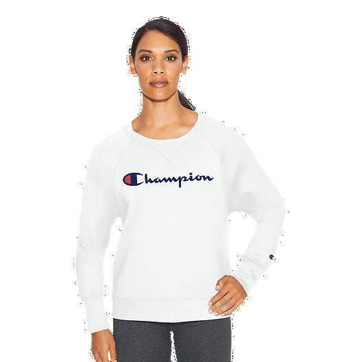 ed43542f8d5a Champion Women's Powerblend Fleece Boyfriend Crew Sweatshirt | Sport Chek