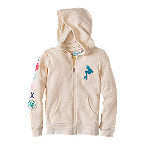 Roxy Girls' Mermaid My Fins Hoodie