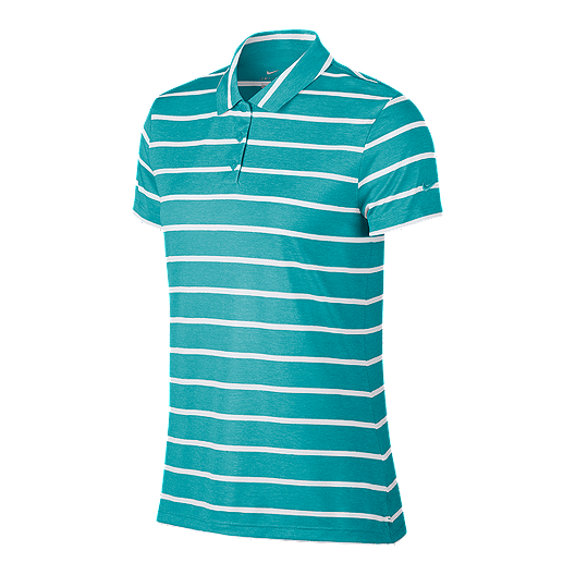 7acfb24235c18 Nike Women's Victory Stripe Short Sleeve Golf Polo - Cabana | Sport Chek