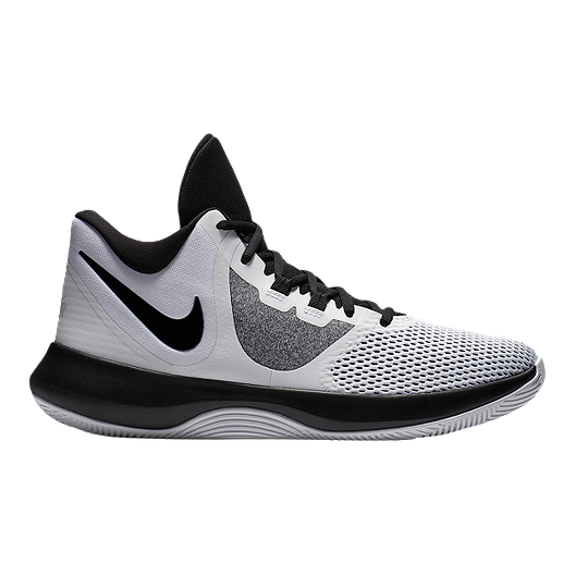 Nike Unisex Air Precision II Basketball Shoes - White/Black