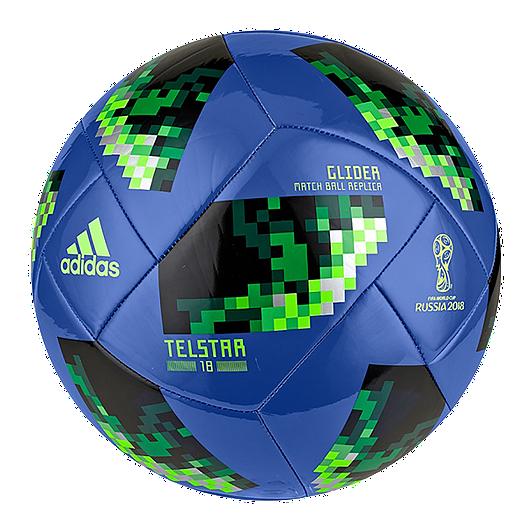 900ea17ed adidas World Cup 2018 Glider Soccer Ball Size 3 - Blue/Green   Sport Chek