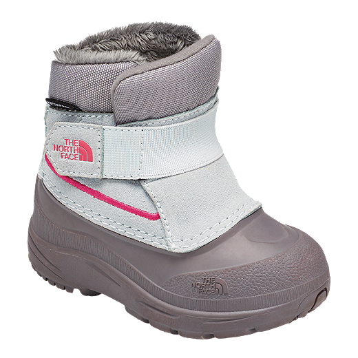 75c357767 The North Face Girl Toddler Alpenglow Winter Boots - Icee Blue/Q-Silver Grey