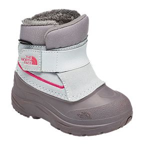 d6534389736 The North Face Girl Toddler Alpenglow Winter Boots - Icee Blue Q-Silver Grey