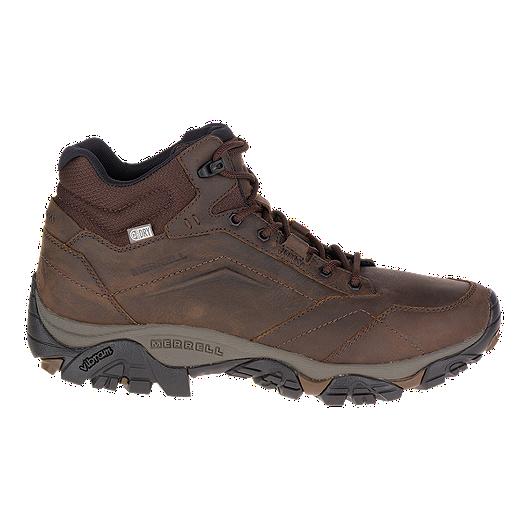 56c92c9750f Merrell Men's Moab Adventure Lace Mid Waterproof Boots - Dark Earth ...