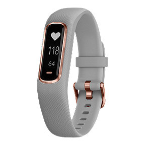 Garmin Vivosmart 4 Activity Tracker - Rose Golf/Grey, Small/Medium