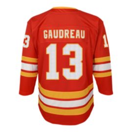 first rate 9a2d1 51954 Youth Calgary Flames Gaudreau 3rd Replica Jersey