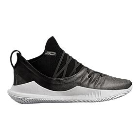 32da4d0f7a35 Under Armour Men s Curry 5 Basketball Shoes - Black White