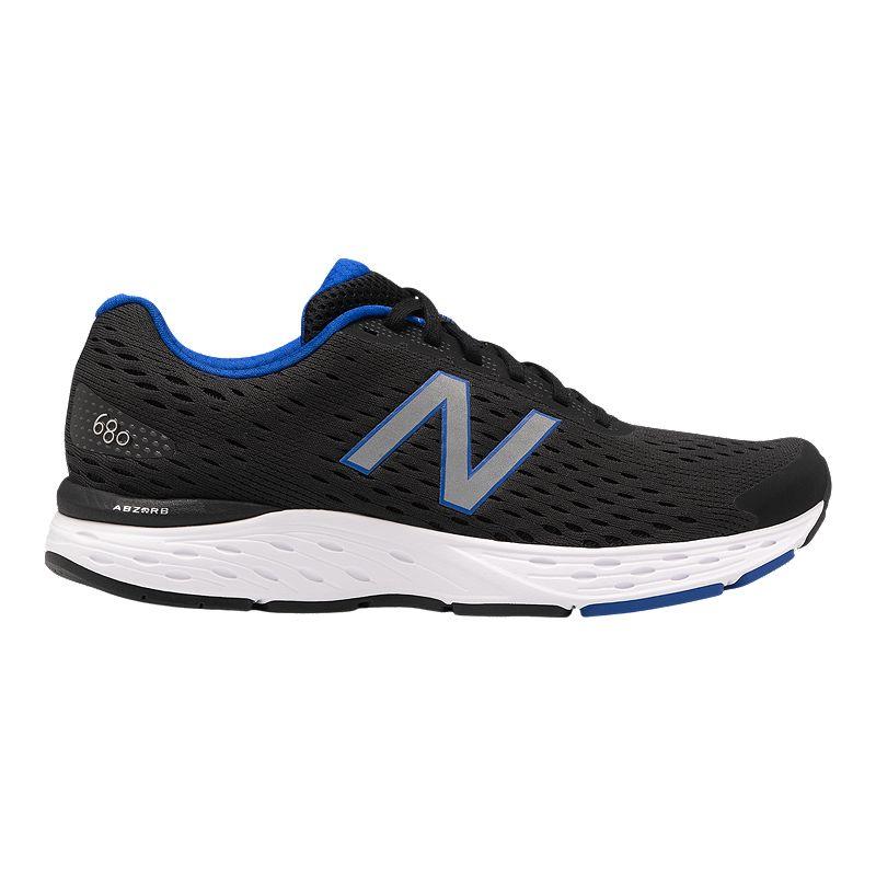 New Balance Men's 680v6 4E Running Shoes - Black/Blue/Grey