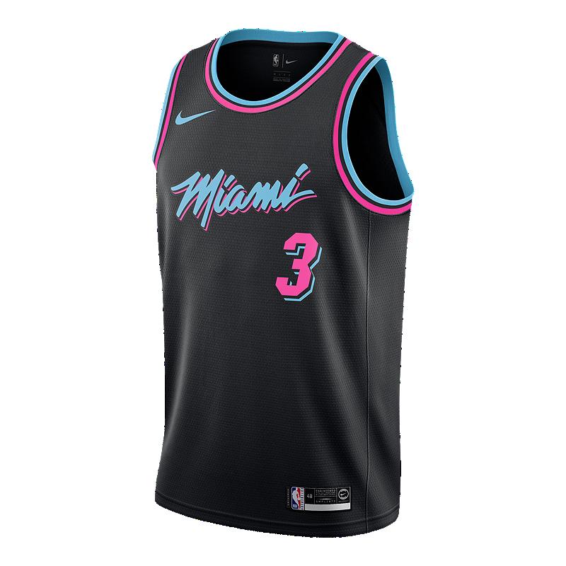 3d4652867 Miami Heat Nike Men s Wade City Edition Swingman Jersey