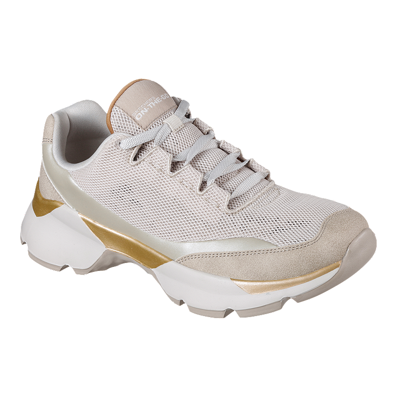 630eba3d8d9 Skechers Women's One Bora Exalting Shoes - Taupe/Gold
