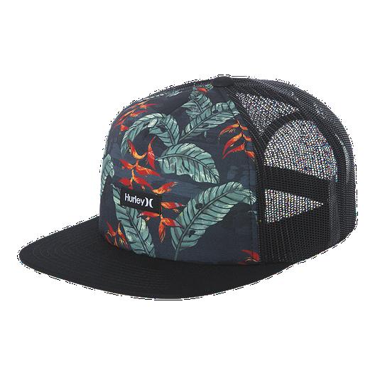 83c2231d6 Hurley Men's Mixtape Snapback Hat - Black/Floral