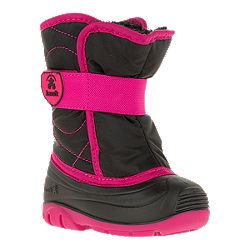 2f86f79ada0bd image of Kamik Girl Toddler Snowbug 3 Winter Boots - Black/Rose with sku: