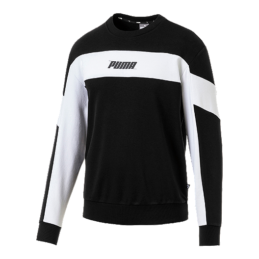 ba2cc53c11dd2 PUMA Men's Rebel Fleece Crew Sweatshirt - Black | Sport Chek