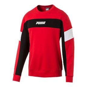 PUMA Men s Rebel Fleece Crew Sweatshirt - High Risk Red 9b82dadff