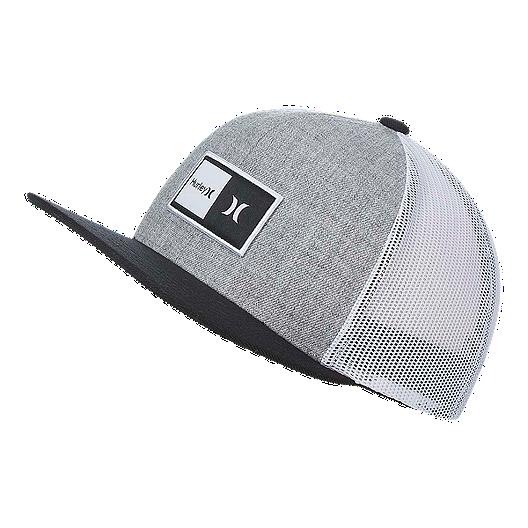 77211939f Hurley Boys' Natural Snapback Hat - Cool Grey