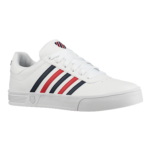 moda firmata carino economico autentico K-Swiss Men's Court Lite Stripes Shoes - White/Blue/Red
