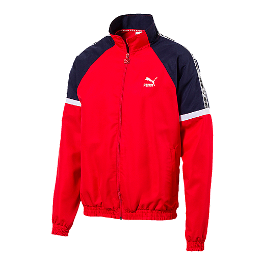 2c365ab75 PUMA Men's XTG Woven Jacket - High Risk Red - HIGH RISK RED