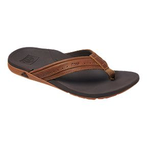 557998081 Reef Men s Leather Ortho Spring Sandals - Brown