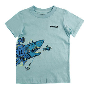 Hurley Boys' 4-7 Shark Submarine Tee