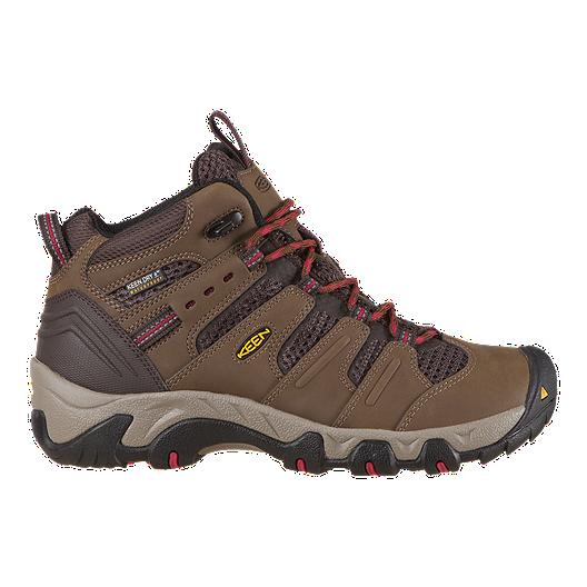 02d5b948dba Keen Women's Koven Mid Waterproof Hiking Boots - Dark Earth/Crimson | Sport  Chek