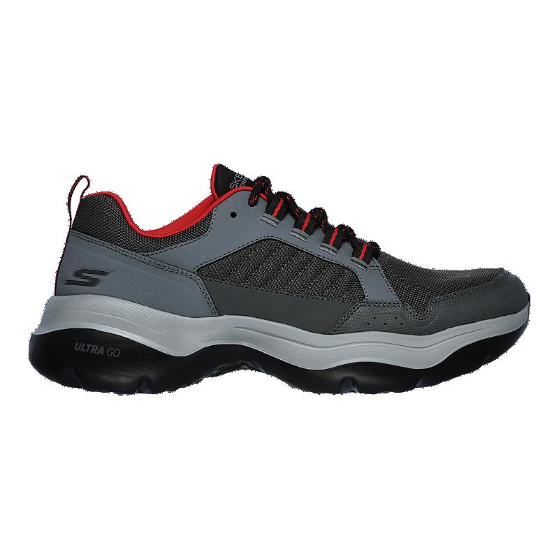Skechers Men's Go Walk Mantra Ultra Walking Shoes GreyRed