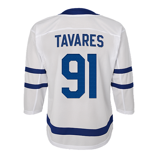 check out d7b82 5f884 Youth Toronto Maple Leafs Tavares Replica White Jersey