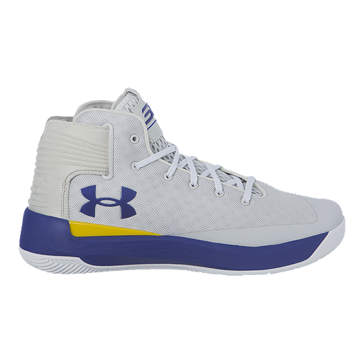 c250471f5a9 Under Armour Men s Curry 3Zero Basketball Shoes - Grey White