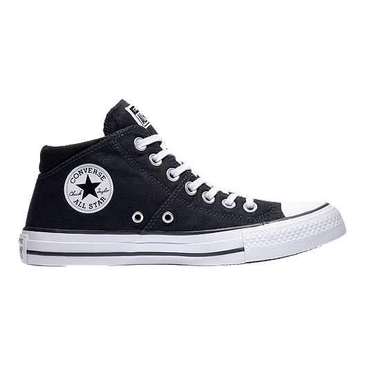 37a2a53202d6 Converse Women s Chuck Taylor All Star Madison Mid Top Shoes - Black ...
