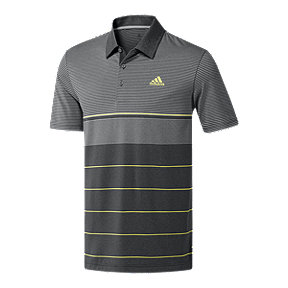 adidas Men's Ultimate365 Heather Stripe Polo Shirt - Light Grey